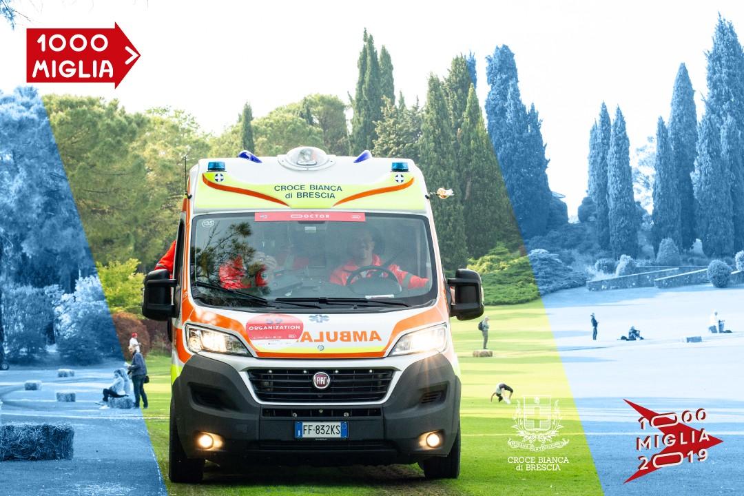 Croce Bianca a supporto della 1000 Miglia 2019