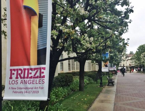 1000 Miglia at Frieze Los Angeles, among pieces of modern art