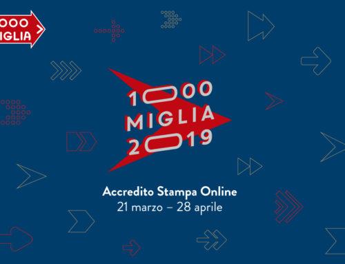 Aperte le richieste di accredito stampa per la 1000 Miglia 2019