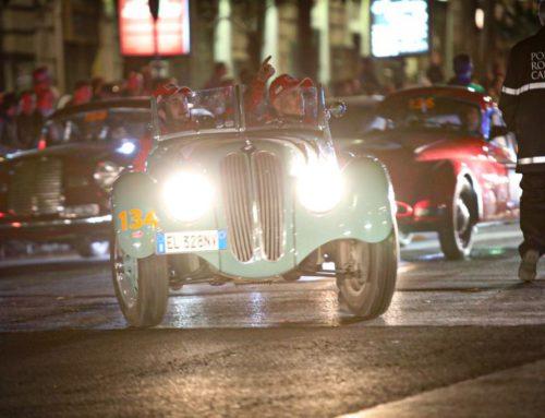 Le auto della 1000 Miglia arrivano a Roma
