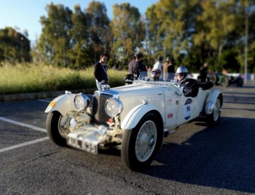 The cars of the 1000 Miglia at the turning point