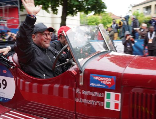 Giovanni Moceri and Daniele Bonetti winners of the 1000 Miglia 2019