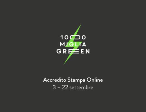 Aperte le richieste di accredito stampa per la 1000 Miglia Green 2019