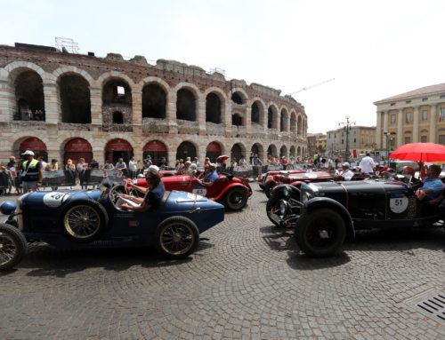 Verona accoglie la 1000 Miglia per il pranzo della quarta tappa