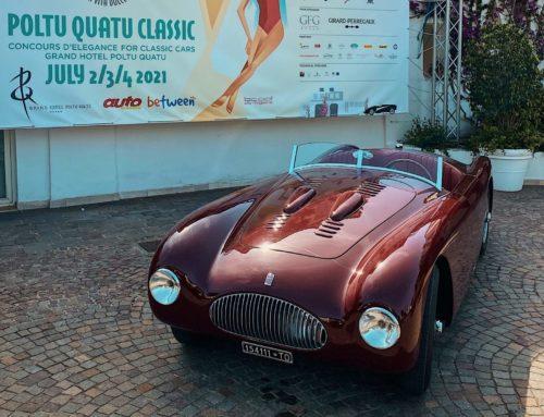 The Fiat 1100 Sport Barchetta MM wins the Spirit of 1000 Miglia award at the Poltu Quatu Classic 2021